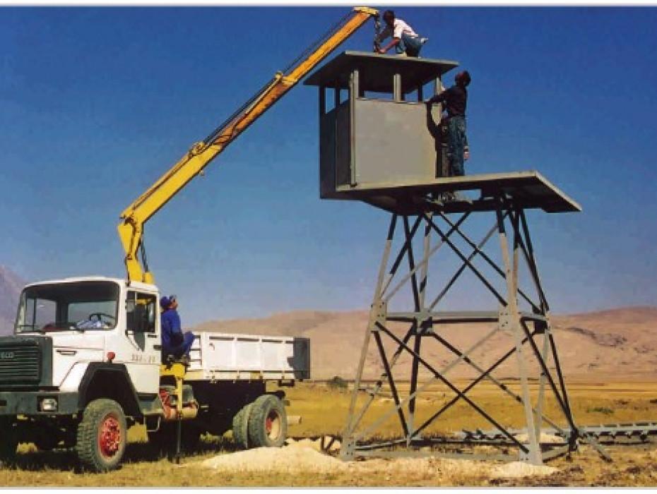 Sınır Güvenlik Yolu, Devriye İstasyonları Aydınlatması ve Sınır Güvenlik Kuleleri İnşaatı